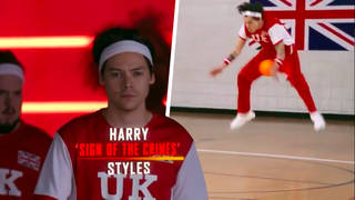 Harry Styles was hit by Michelle Obama in a game of dodgeball