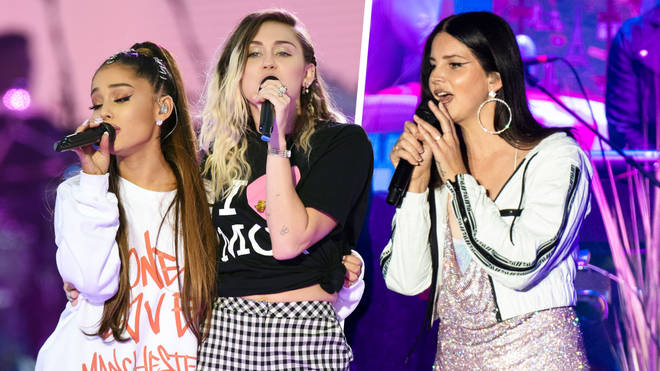 Ariana Grande has hinted at a collab with Miley Cyrus and Lana Del Rey