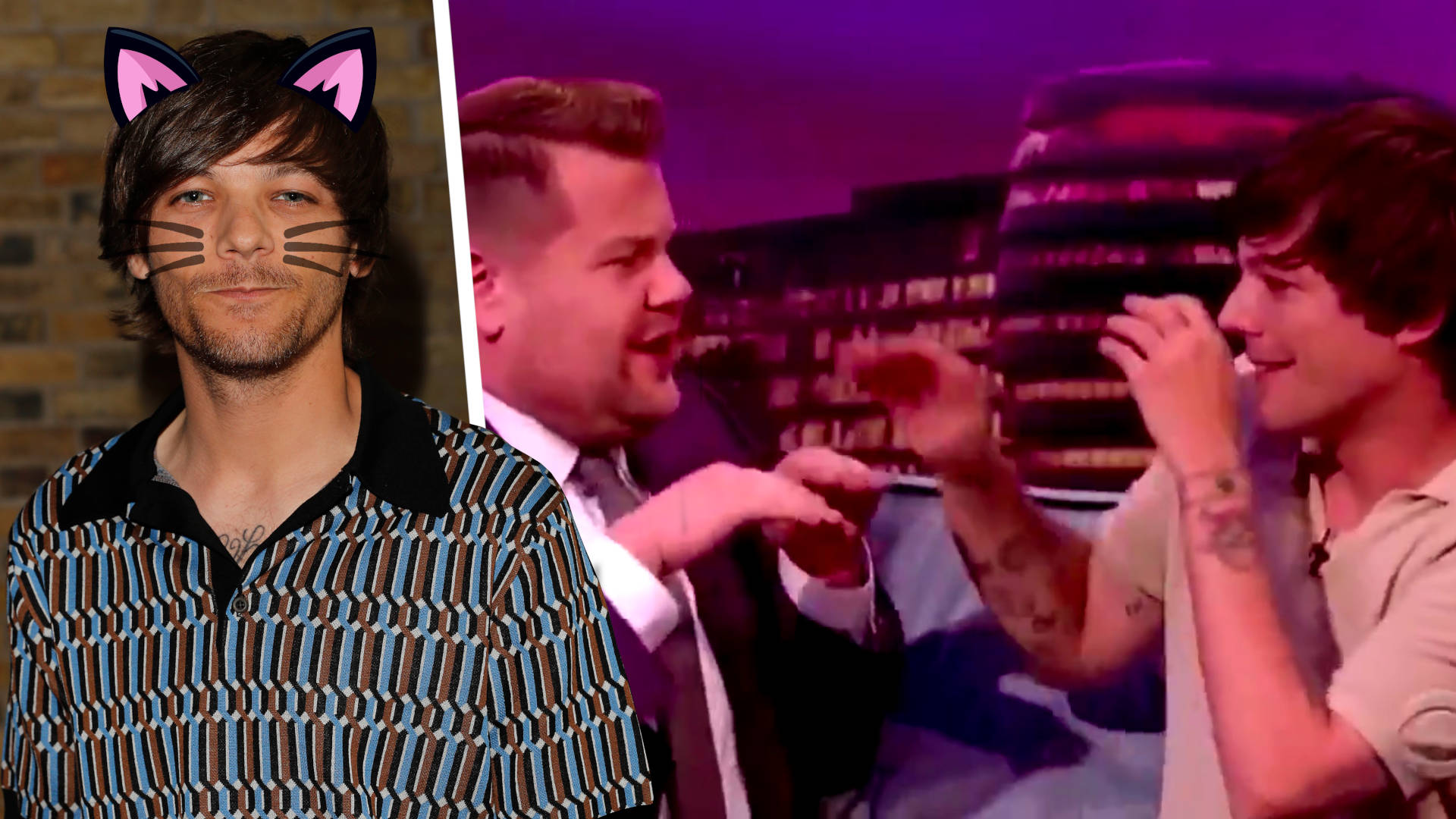 Louis Tomlinson Reenacts His Iconic Cat Scene With James Corden