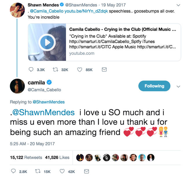 Shawn and Camila are always bigging each other up