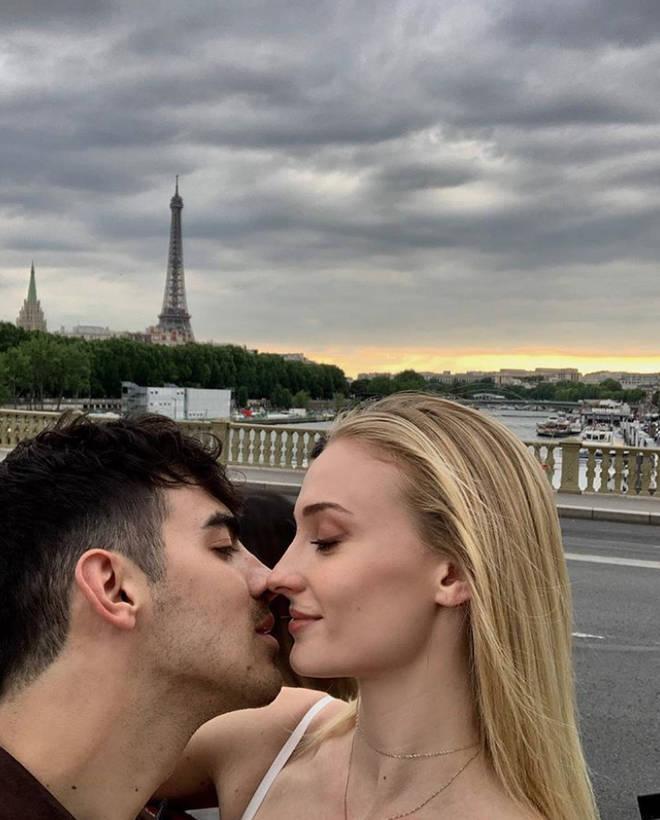 Joe and Sophie flew to Paris one week ahead of their wedding