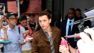 Tom Holland saved a fan who was being crushed against a barricade