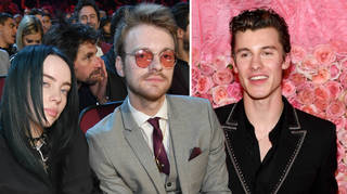 Billie Eilish, brother Finneas and Shawn Mendes