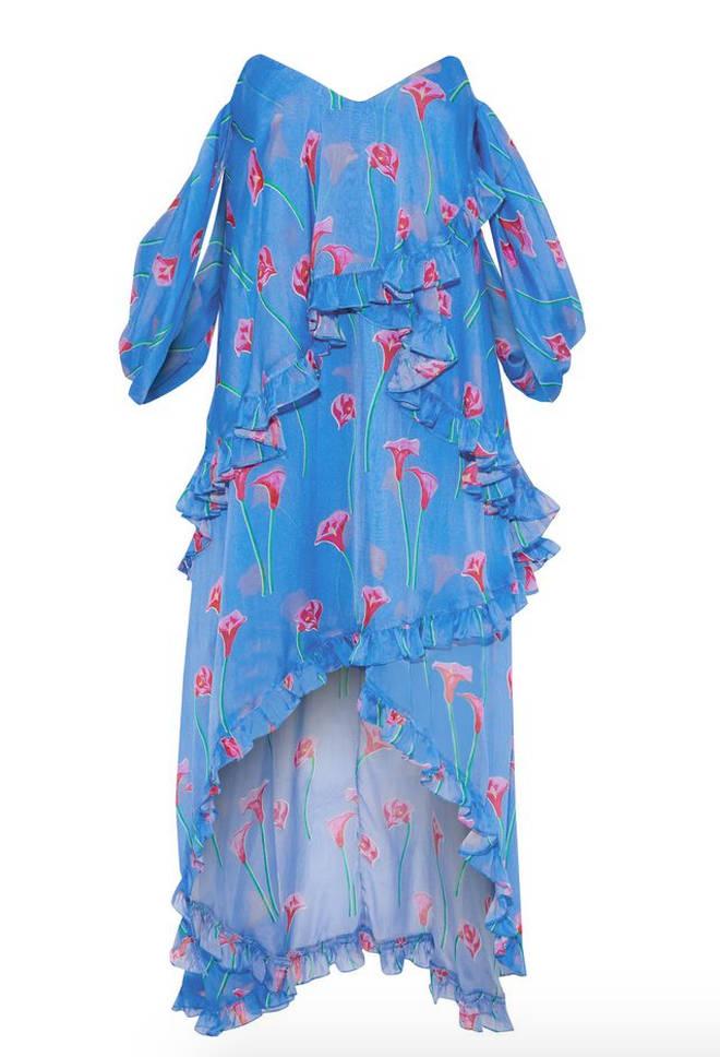 Caroline's dress is by Caroline Constas