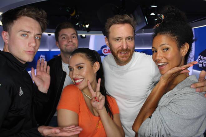 RAYE and David Guetta joined Capital Breakfast with Roman Kemp