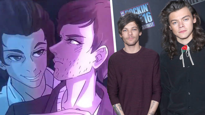 Euphoria aired a fanfic between One Direction's Harry Styles and Louis Tomlinson