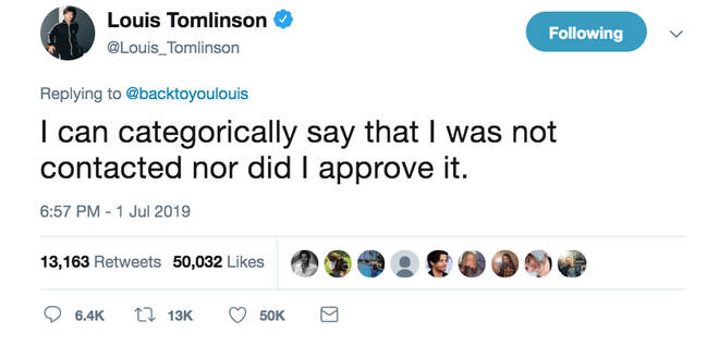 Louis Tomlinson has responded to the backlash over the Euphoria scene