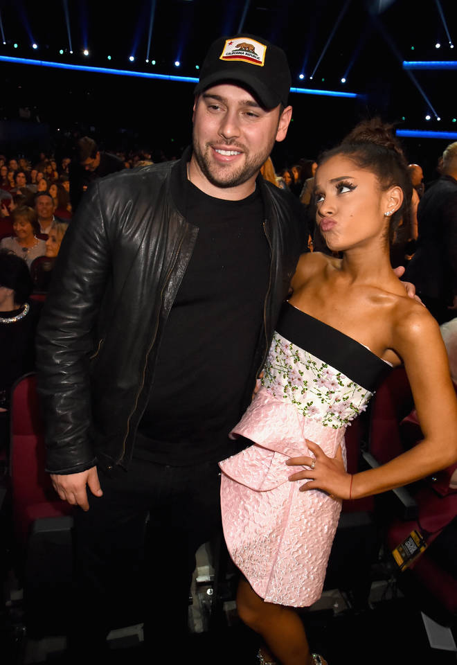 Ariana Grande is very close with manager Scooter