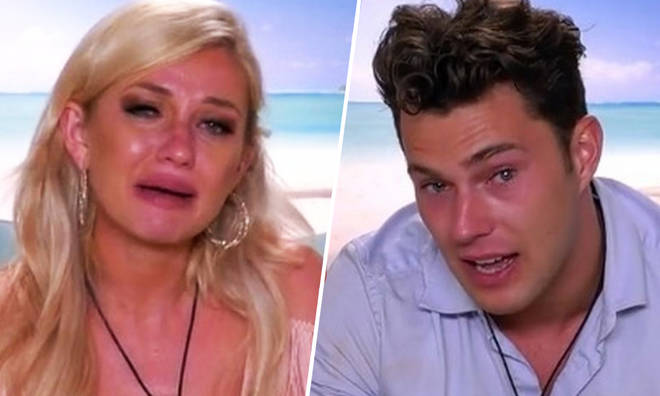 Amy Hart has left the Love Island villa after being dumped by Curtis Pritchard