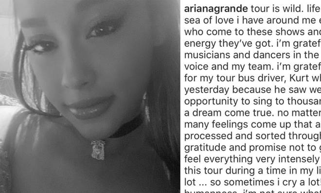 Ariana Grande posted a lengthy statement on Instagram.