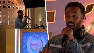 Craig David performed in the Love Island villa