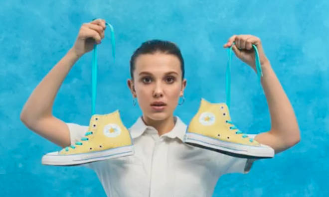 Millie Bobby Brown has teamed up with Converse