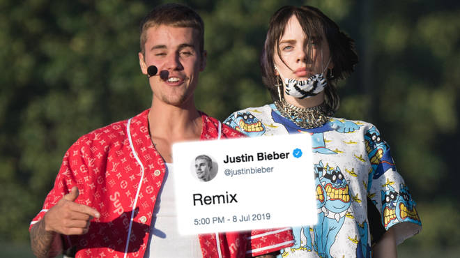 Justin Bieber and Billie Eilish 'bad guy' remix