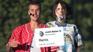 Justin Bieber and Billie Eilish 'bad guy' remix