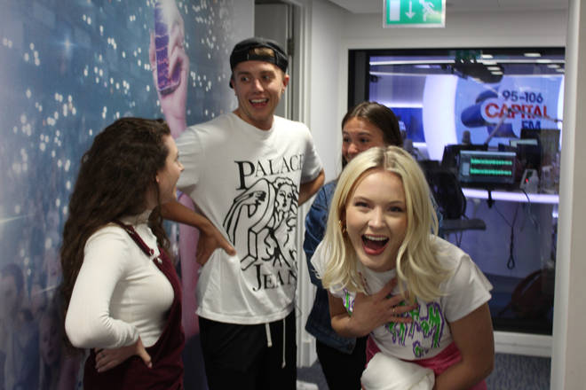 Zara Larsson is pranked by two 'super fans'