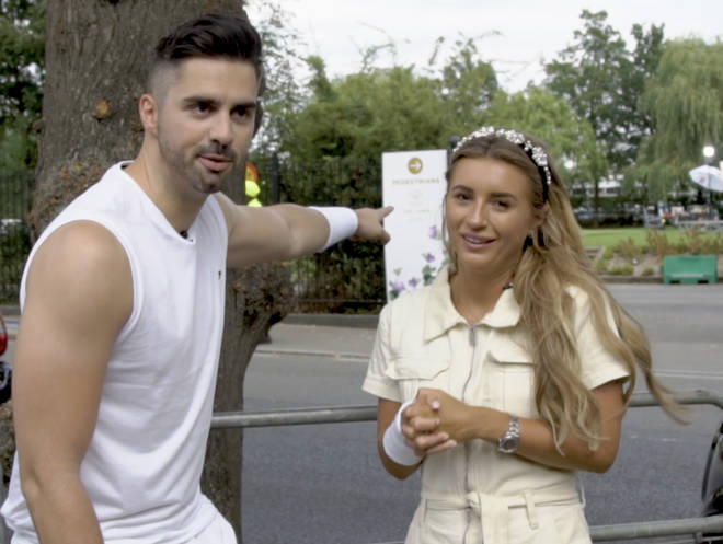 Dani Dyer and Rob Howard's tennis grunt challenge