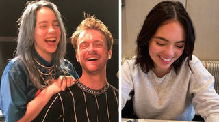 Billie Eilish with brother Finneas and Claudia Suwelski