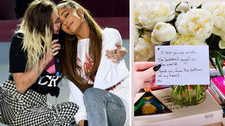 Ariana Grande gifts Miley Cyrus flowers & an adorable note