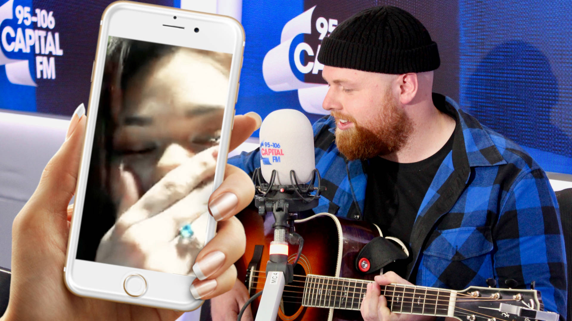 WATCH: Tom Walker Helps A Fan Propose Through Song