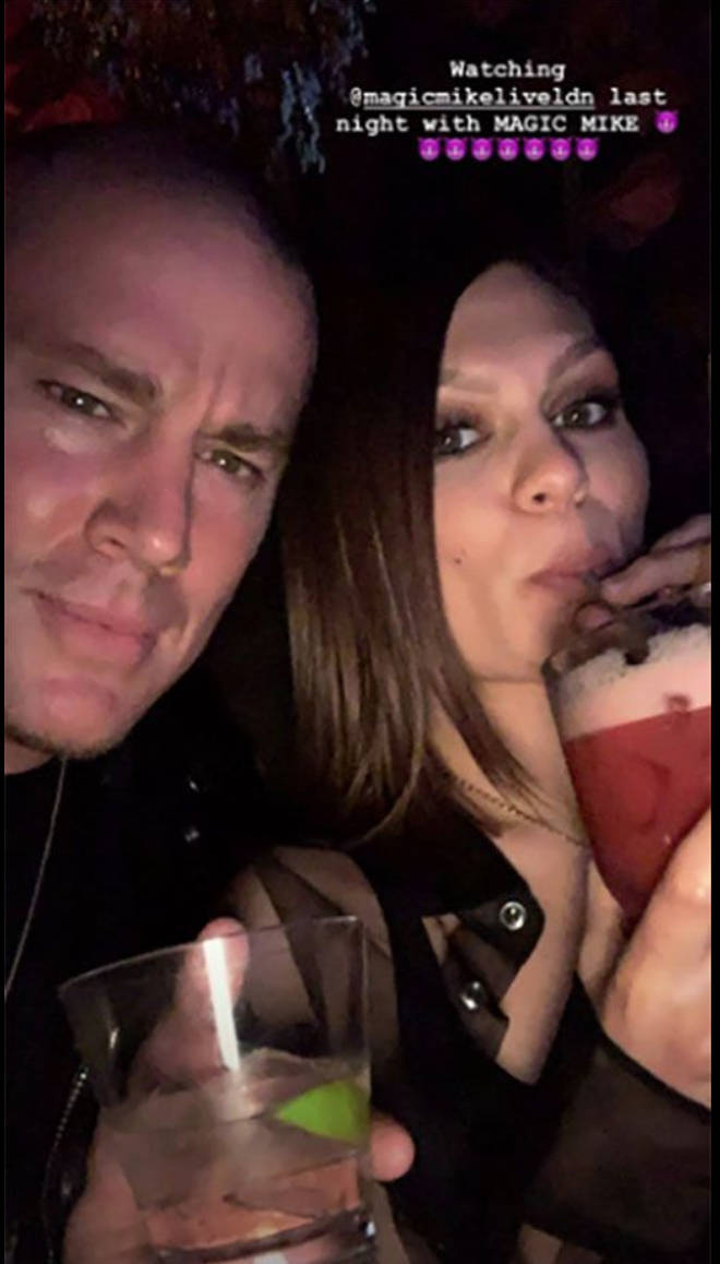 Jessie J and Channing Tatum sip cocktails on date night in London