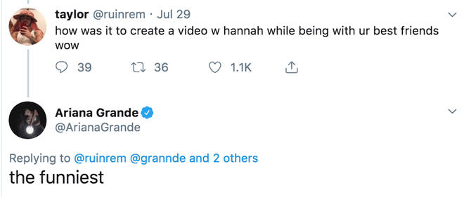 Ariana Grande confirms Hannah Lux Davis directed the 'boyfriend' music video