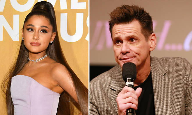 Ariana Grande finally got to properly meet Jim Carrey