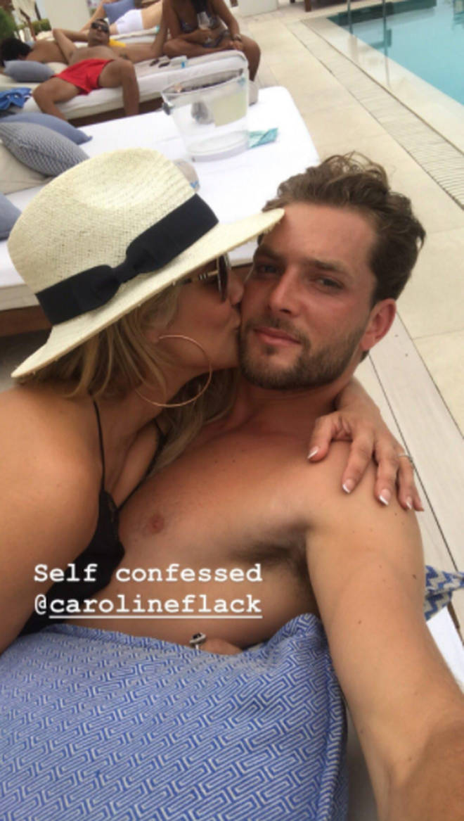 Caroline Flack and her man spent time together in Ibiza