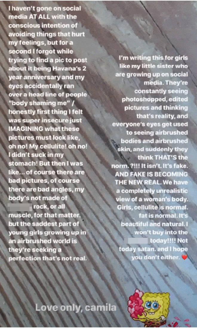 Camila Cabello shut down trolls' cruel comments