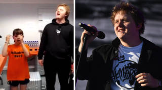 Lewis Capaldi sings with 10 year old fan