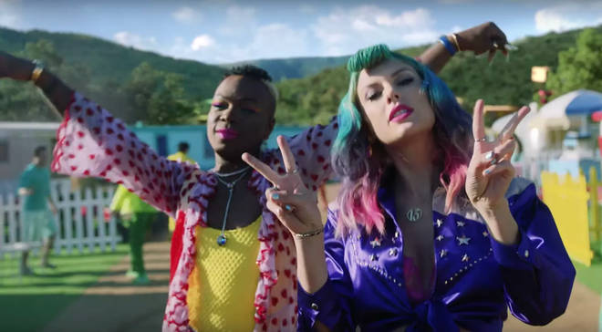 Todrick Hall and Taylor Swift in the 'You Need To Calm Down' music video