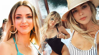 Kaitlynn Carter and Miley Cyrus were seen kissing during their holiday to Italy
