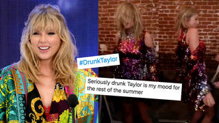 Taylor Swift dances to her own song at party