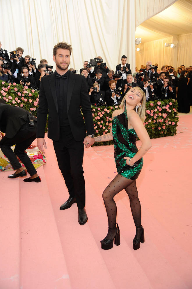 Miley Cyrus and Liam Hemsworth at the MET Gala 2019