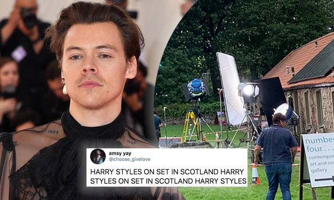 Harry Styles spotted filming a music video in Scotland