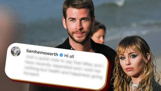 Liam Hemsworth took to Twitter to talk about his split from Miley Cyrus