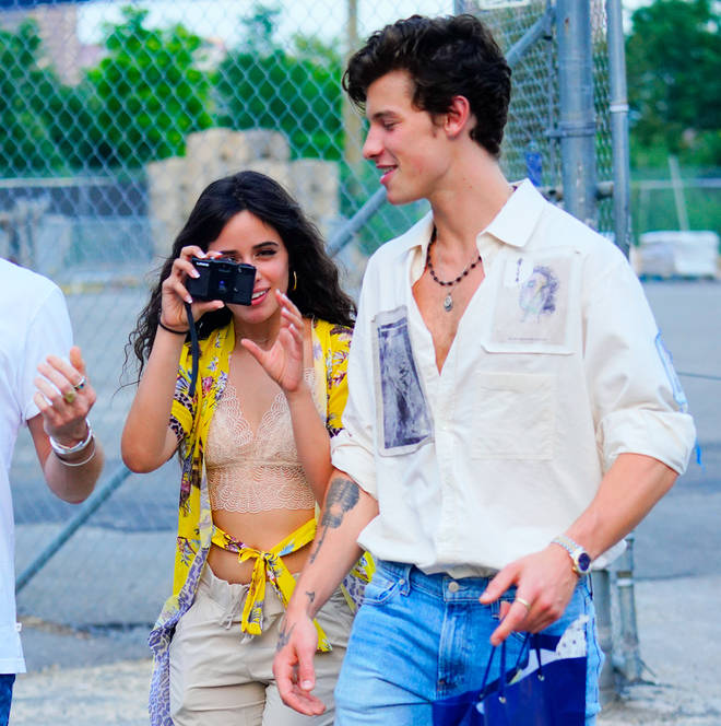 Shawn and Camila walking in New York