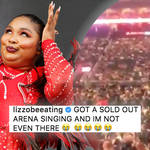 Lizzo gets Jonas Brothers show pumped without even being there