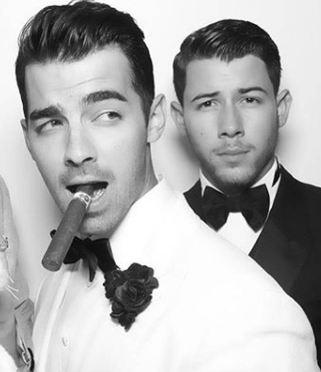 Joe Jonas and Nick Jonas at the 30th birthday party