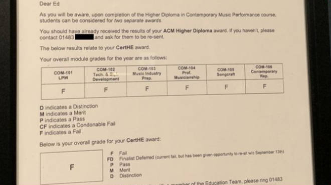 Ed Sheeran's report from the Academy of Contemporary Music in Guildford