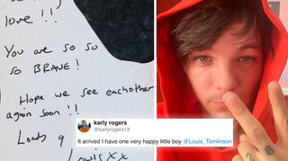 Louis Tomlinson sends a young fan a note and hamper of toys
