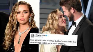 Miley Cyrus breaks silence on Liam Hemsworth split