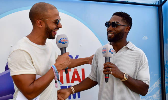 Tinie Tempah shared his festival fashion thoughts with Capital's Marvin Humes