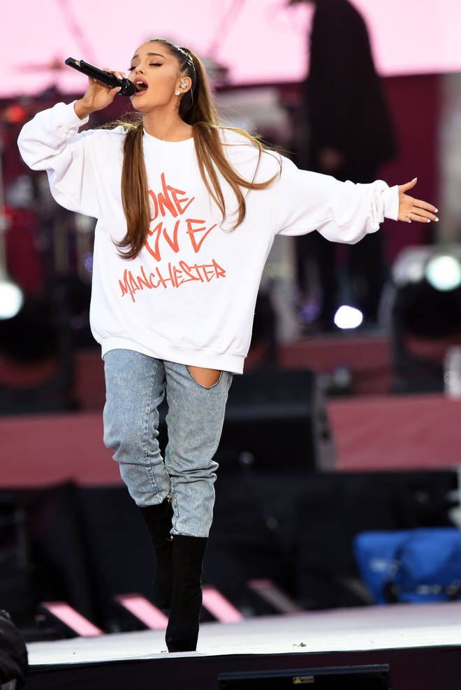 Ariana Grande said she was 'overwhelmed'.