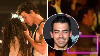 Joe Jonas reacts to Shawn Mendes and Camila Cabello's VMAs performance