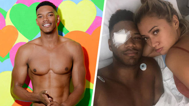 Theo Campbell was blinded in one eye by a champagne cork