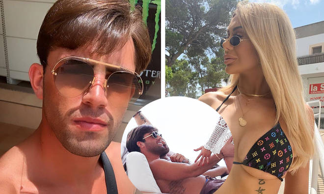 Jack Fincham touches Chloe Ferry's bum in Ibiza