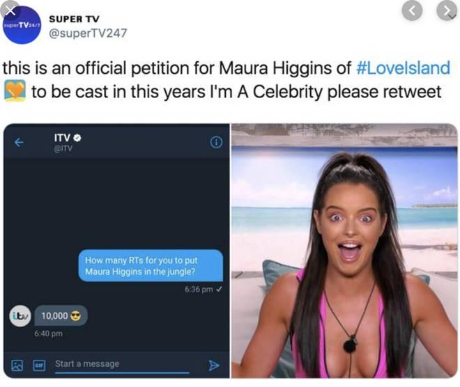 Maura Higgins Rumoured For I'm A Celeb