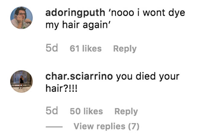 Fans can't believe Charlie went back to his blonde hair