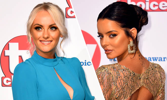 Maura Higgins and Katie McGlynn were pictured embroiled in a row