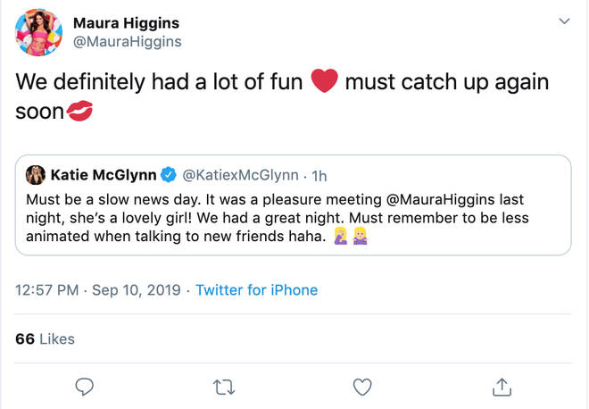 Maura Higgins and Katie McGlynn cleared up any rumours of a row